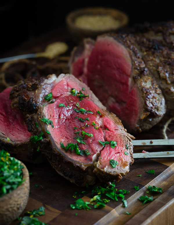 Balsamic Dijon Crusted Beef Tenderloin + Meyer Lemon Gremolata